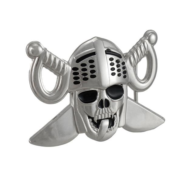 Lewd Knight Skull & Crossed Swords Belt Buckle
