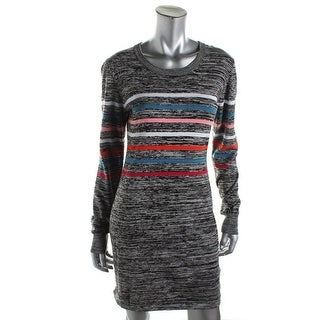 French Connection Womens Printed Long Sleeves Sweaterdress - 2