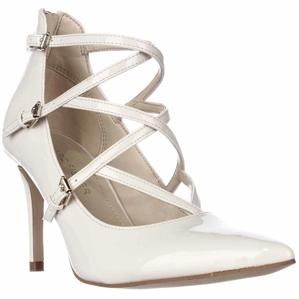 Marc Fisher Womens Danger2 Pointed Toe Ankle Strap Classic Pumps