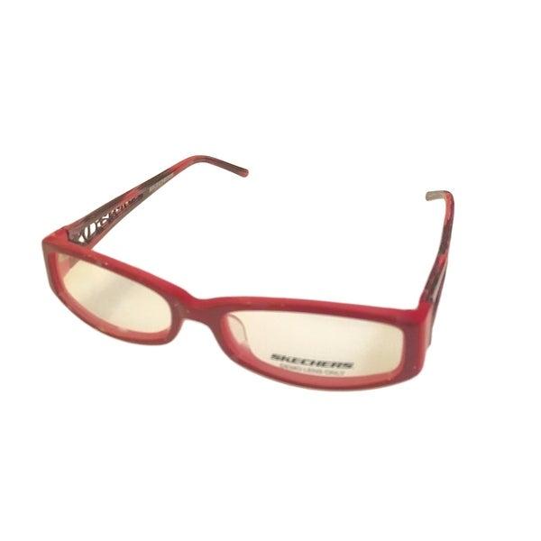 Skechers Womens Opthalmic Eyeglass Frame Plastic Rectangle SK2024 Violet - Medium