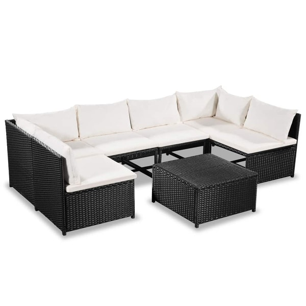 01561698bf95 vidaXL Garden Sofa Set 21 Pieces Poly Rattan Wicker Outdoor Lounge Furniture