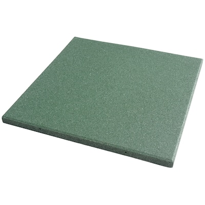 """Rubber-Cal """"Eco-Sport"""" 1-inch Interlocking Flooring Tiles - 1 in x 20 in x 20 in - 1 Pack - Green - 20 x 20"""