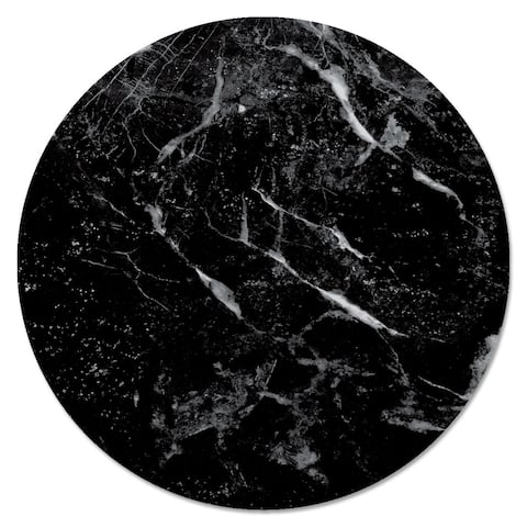 Glass Lazy Susan - Black Marble - 13x.026