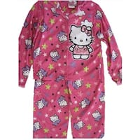 Hello Kitty Girls Fuchsia Kitty Image Star Print 2 Pc Pajama Set 8-10