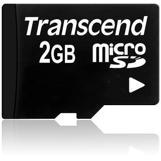 Transcend 2 GB microSD Flash Memory Card - Black