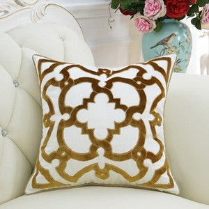 "Luxury Yellow Moroccan Floral Pillow 20""X20"""