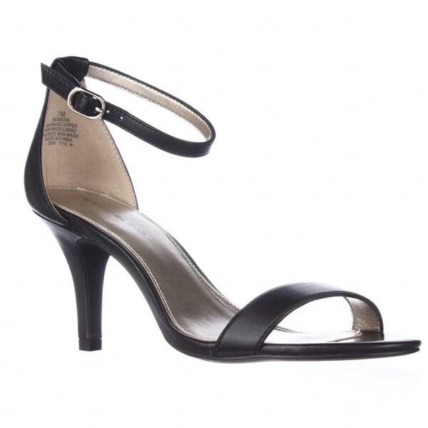 Bandolino Madia Ankle Strap Peep Toe Sandals, Black