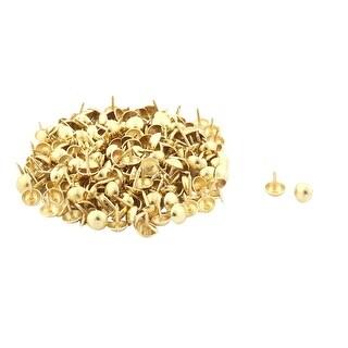 Furniture Box Metal Upholstery Thumb Tack Nail Pushpin Gold Tone 7 x 10mm 200pcs