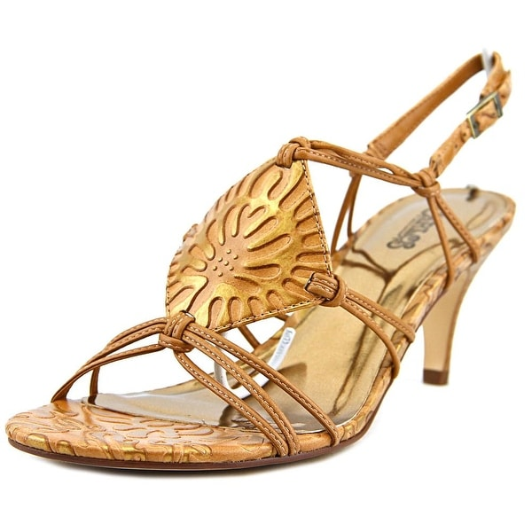 Carlos by Carlos Santana Samba Women Open-Toe Leather Slingback Sandal