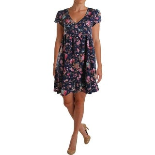 Denim & Supply Ralph Lauren Womens Floral Print Empire Waist Wear to Work Dress