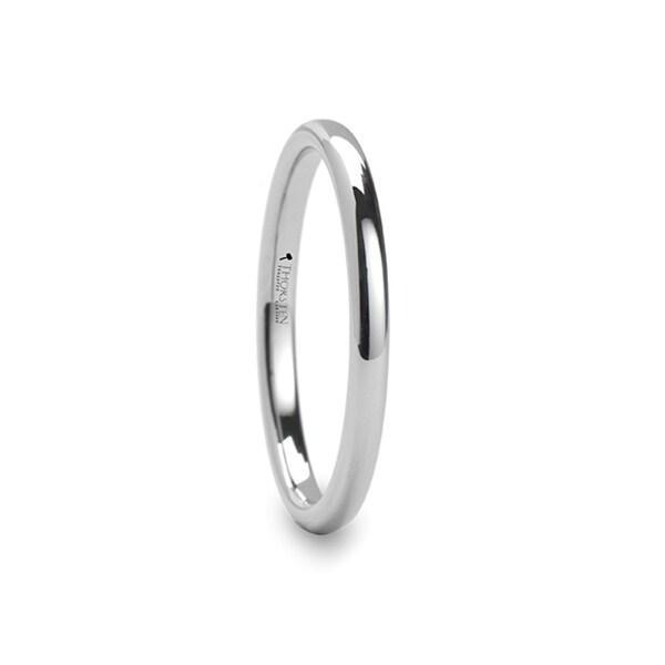 THORSTEN - ARLINGTON Domed White Tungsten Ring for Men - 2mm