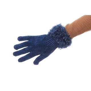 Winter Break Chenille Gloves with Fluffy Cuff