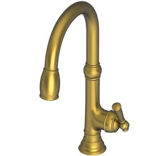 Newport Brass 2470-5103 Jacobean Kitchen Faucet with Metal Lever Handle and Pull-down Spray