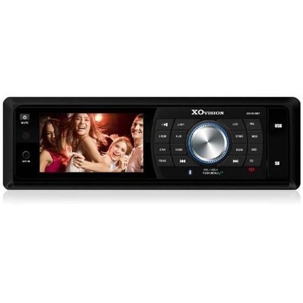 Xo Vision Car Stereo 3 in. Dvd Receiver Bluetooth - Black - XO1918BT