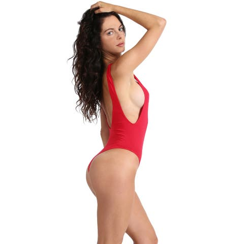 NE PEOPLE Womens Sexy Thong Bodysuit with Low Cut Sides S-3XL[NEWBS16]