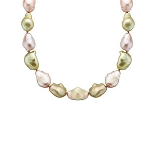Honora 18-Inch Baroque Freshwater Pearl Strand with Sterling Silver Clasp - Multi-Color