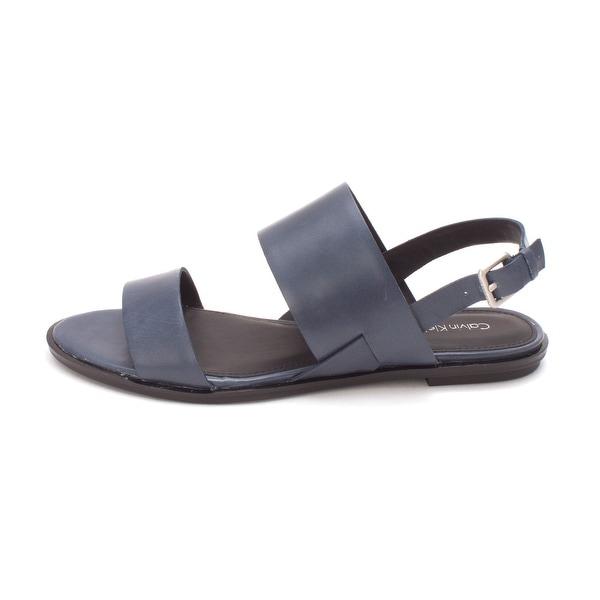 Calvin Klein Womens Uni Open Toe Casual Slingback Sandals