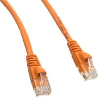 Cat6 Green Ethernet Patch Cable & Snagless - Molded Boot, 6 in.