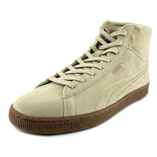 Puma Suede Mid Emboss   Round Toe Suede  Sneakers