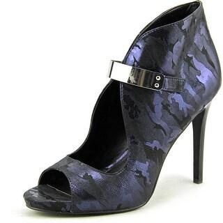Fergie Remix Women Open-Toe Canvas Blue Heels