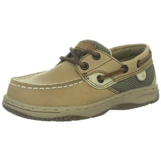 Sperry Boys Bluefish Mixed Media Leather Boat Shoes