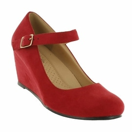 Red Circle Footwear Osaka Mary Jane Comfort Wedge