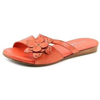 Rose Petals by Walking Cradles Fiji WW Open Toe Leather Slides Sandal