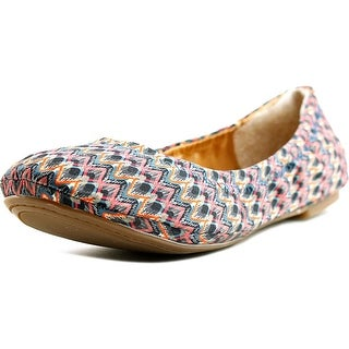 Lucky Brand Emmie Women Round Toe Canvas Multi Color Ballet Flats
