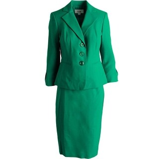 Le Suit Womens Country Club 2PC 3/4 Sleeves Skirt Suit