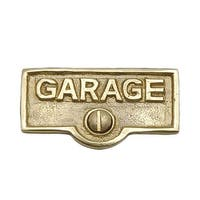Switch Plate Tags GARAGE Name Signs Labels Lacquered Brass | Renovator's Supply