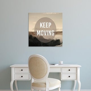 Easy Art Prints Studio W's 'Foggy Mountain Motivation II' Premium Canvas Art