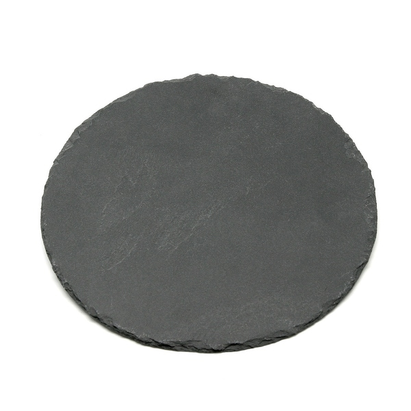 Creative Home Genuine 12 Inch Slate Lazy Susan, Rotating Dessert, Food Serving Board, Display Plate. Opens flyout.