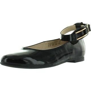 Donald Pliner Jrs 55-Audrey Girls Designer Dress Ankle Strap Flats Shoes