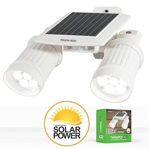 TWINSPOT PRO Solar Motion Sensor Dual Head LED Spotlight In White