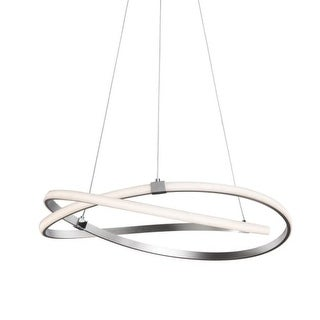 "Contempo Lights SHSC283 Zeppelin Single Light 29"" Wide LED Abstract Circle Chandelier"