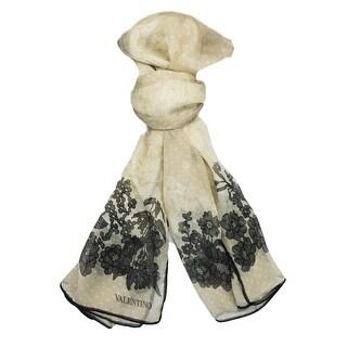Valentino VS7020 6796 Col.1 Beige Floral Silk Ladies Scarves