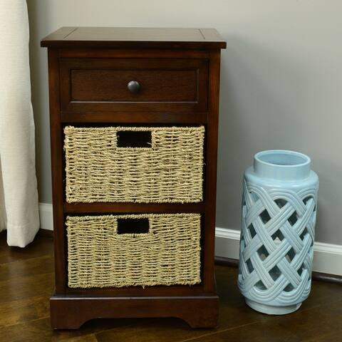 The Gray Barn Tudor Rose 1-drawer 2-basket Accent Chest
