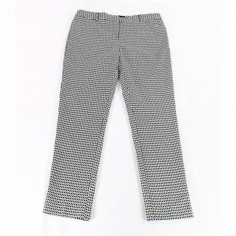 Amanda + Chelsea White Black Womens Size 14 Printed Dress Pants