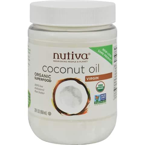 Nutiva Virgin Coconut Oil Organic - 29 oz - Case of 6