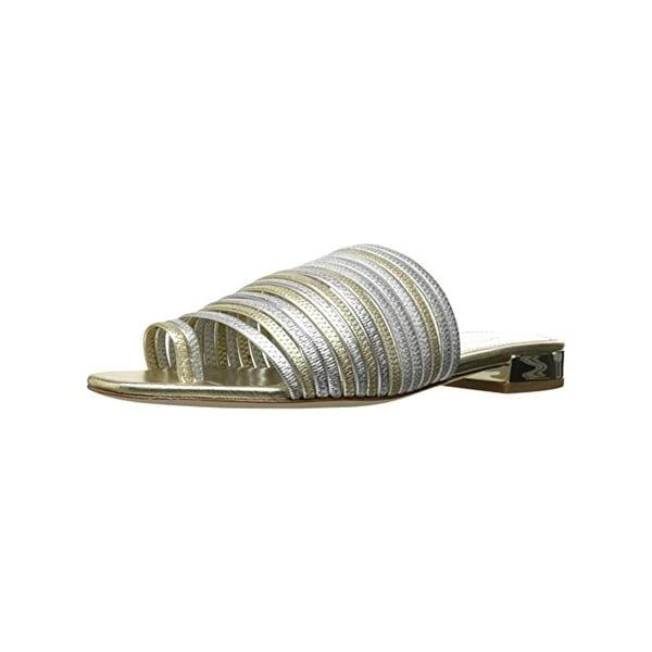 Donald J. Pliner Womens Frea Slide Sandals Metallic Strappy