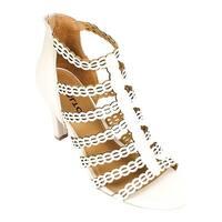 Rialto Women's Roma Strappy Sandal Linen Smooth Polyurethane