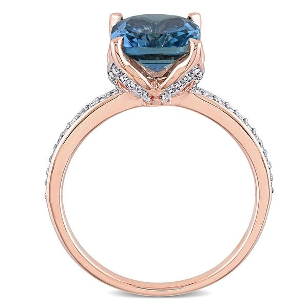 Details about  /Blue Topaz Gemstone Jewelry 10k Rose Gold RingA Precious Gift for Her