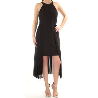 d68207082f9 Womens Black Sleeveless Above The Knee Sheath Cocktail Dress Size  14