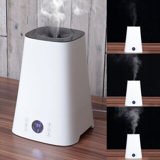 Costway 5L Cool Mist Ultrasonic Humidifier LCD Air Diffuser Purifier Home Office - White