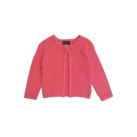 Sprockets Little Girls Pink Knitted Top Button Long Sleeved Cardigan