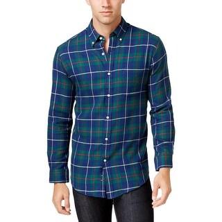 John Ashford Mens Button-Down Shirt Flannel Plaid (4 options available)