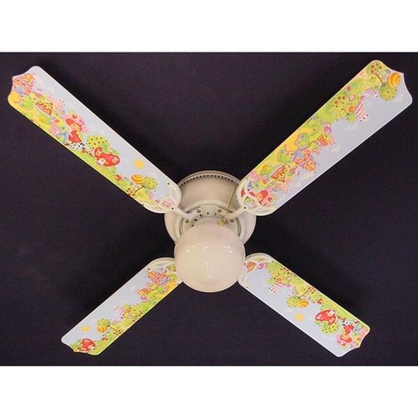 Girls Strawberry Shortcake Print Blades 42in Ceiling Fan Light Kit - Multi