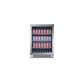 """Avallon ABR241GRH  24"""" Wide 140 Can Energy Efficient Beverage Center with LED Lighting, Double Pane Glass, Touch Control Panel"""