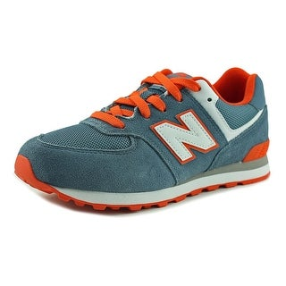 New Balance KL574 Youth  Round Toe Synthetic Blue Walking Shoe