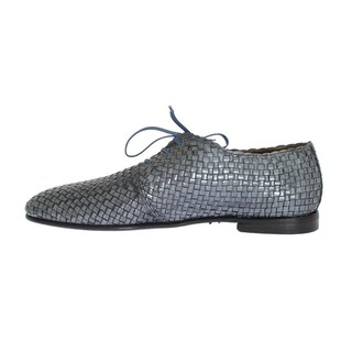 Dolce & Gabbana Blue Woven Leather Dress Formal Shoes - eu44-us11